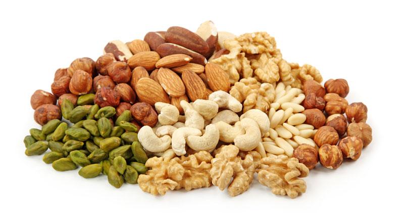 hur mycket nötter per dag